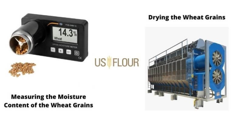 Using The Technology To Measure The Moisture Content Of The Wheat Grains As Well As Drying Them